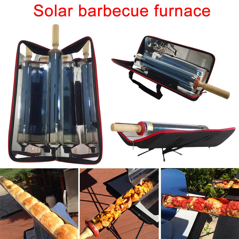Outdoor Portable Solar Grill Folding Metal Barbecue Food Class Cooking Stainless Energy Effectively B2Cshop 3 5 people outdoor picnic thick stainless steel barbecue grill portable folding grill barbecue tools