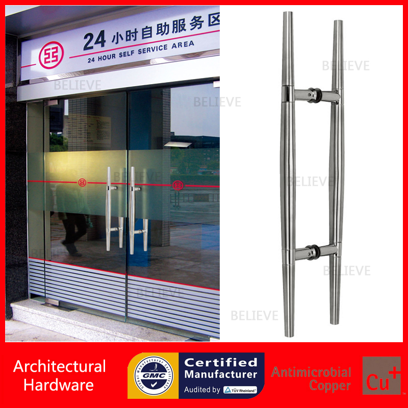купить Practical Entrance Door Handle Polish and Brushed 304 Stainless Steel Pull Handles PA-106-32*600mm For Glass/Wooden/Metal Doors недорого