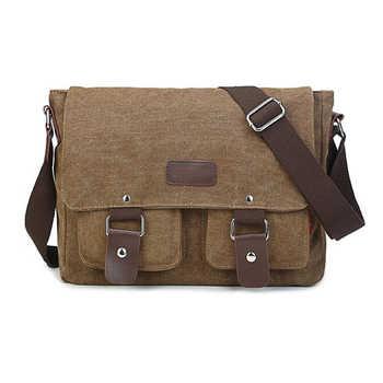 Men\'s Vintage Canvas Bag Men Casual Crossbody Bag For Men Messenger Bag Man Travel Shoulder Bags Bolsa Masculina High Quality