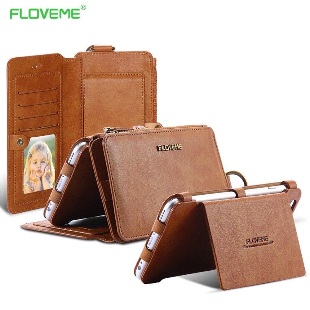 Цена за Floveme бумажник case для iphone 5 5s iphone 5c se ipod touch металлическое кольцо coque обложка карты бренд ретро кожа телефон case iphon 5