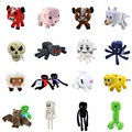 High Quality 1 PCS Minecraft  Plush Toys 15-26CM Enderman Ocelot Pig Sheep Bat Mooshroom Squid Spider Wolf Animal Stuffed Toys