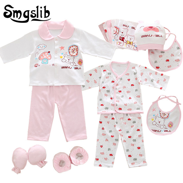 d5f364f50 18pcs set Newborn baby girl clothes 100% cotton underwear suits ...