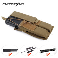 Tactical Molle Pouch Military MP7 Double Decker Open Top Pistol Magazine Pouch Airsoft Military Paintball Cartridge