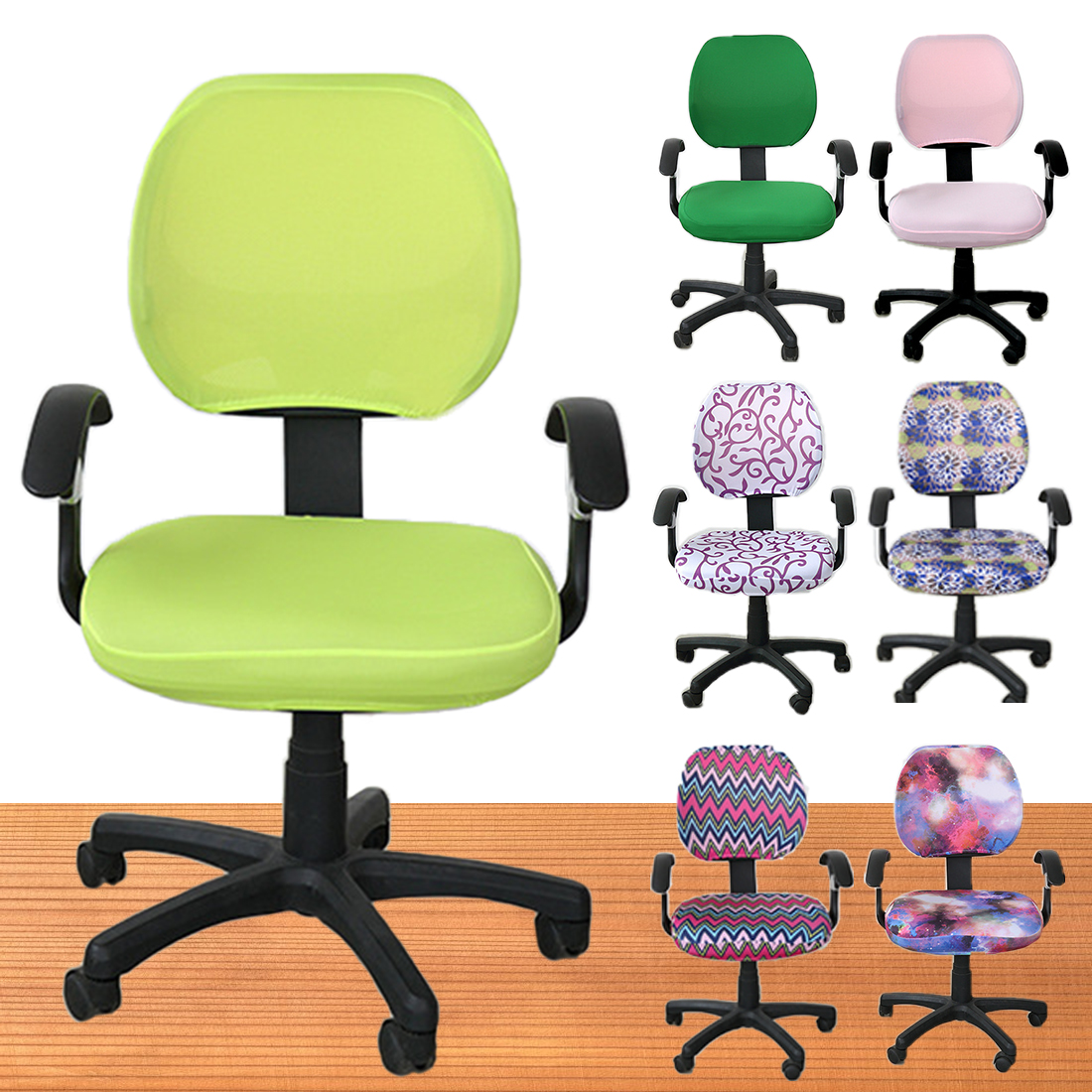 Free Shipping Elastic Fabric Spandex Seat Covers For Computer Chairs Office Chair Easy W ...
