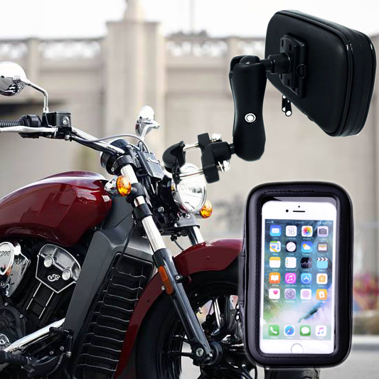 Super Strong Waterproof Motorcycle Phone Holder Stand Support for iPhoneX 6 7Plus GPS Holder Phone Bag Moto Suporte Para Celular