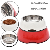Pet Wholesale Dog Cat Bowl Eating Drinking Bowl Round Shape Product Skid Stainless Steel Material Traveling