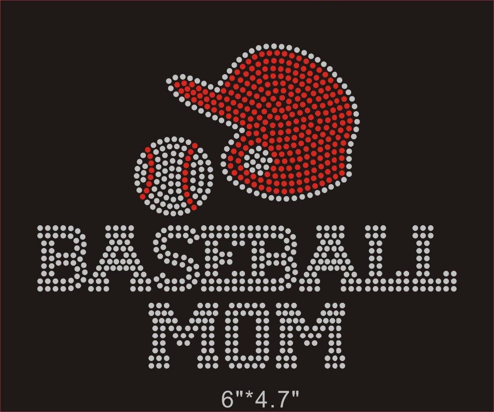 12 Teile/los Baseball Mom Koreanische Rhinestoneübertragung Für Ihre Diy Hemd