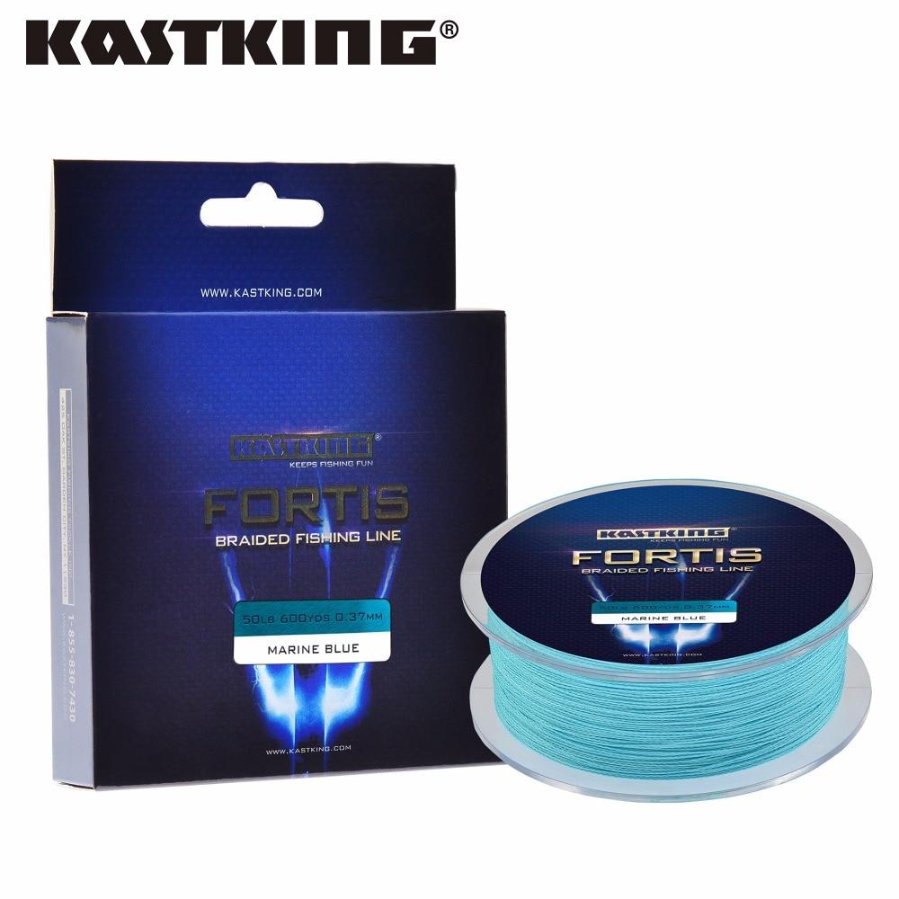 Kastking marca fortis serie 550 m 600 yardas 10lb 20lb pe trenzado línea de pesc