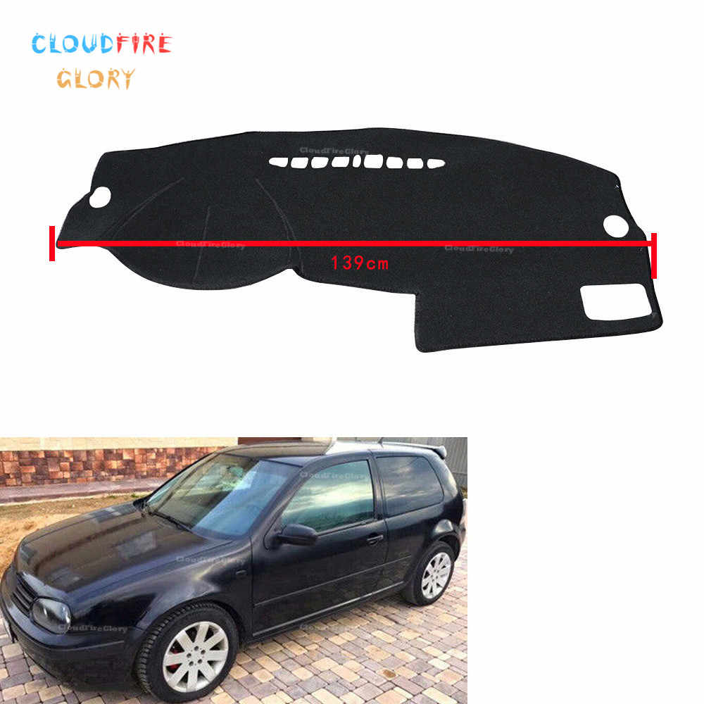 CloudFireGlory LHD Car Dashboard Cover Dashmat Dash Mat Pad Sun Shade Dash Board Cover Carpet  For VW GOLF 4 MK4 1997-2003