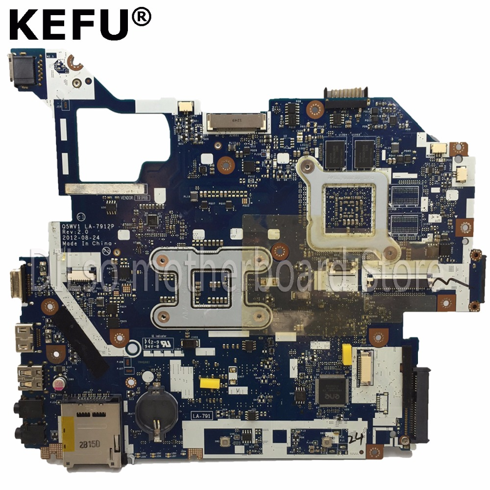 KEFU LA-7912P motherboard fit for ACER Aspire E1-571G V3-571G V3-571 motherboard Q5WV1 LA-7912P HM77 PGA989 Test danish design iv15q702slbk