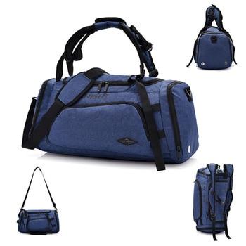 Waterproof 20-35L Large Multifunctional Travel Handbag Training Gym Bag Shoes Storage Big Capacity Packsack For Lady Men