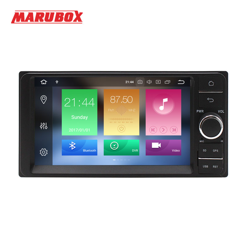 MARUBOX 2 Din Android 9 4GB RAM For Toyota Universal 7 IPS GPS Navigation Bluetooth Stereo