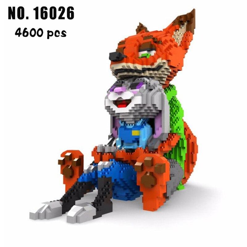 Balody Mini Blocks Cartoon Building Toy Cute Rabbit Nick Fox Model bricks children DIY educational assembly