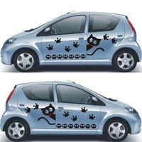 Cartoon animal car stickers,car side door decor die cut decals,Cat group decoration vinyl sticker for peugeot/bmw e39/mercedes