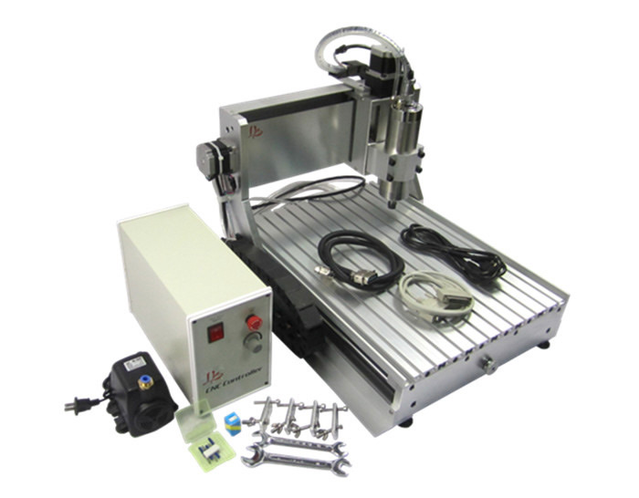 Free shipping! CNC wood router LYCNC3040Z-VFD1.5KW 3axis cnc drilling and milling machine for pcb metal aluminum jade working eru free tax cnc router mini engraving machine diy cnc 3040 4axis wood router pcb drilling and milling machine