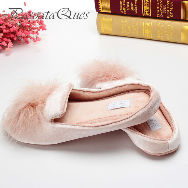 Cute Pompons Women Slippers Home Indoor Women House Shoes Summer Ladies Slides Pasoataques Brand