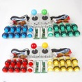 4 Player Arcade Kits Parts USB Encoder To PC Joystick 5V LED Illuminated Buttons For PC Games Mame SNK