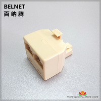 RJ45 extension cable 1 into 2 adapter One male to two female jack network connecter tee head straight ethernet extender