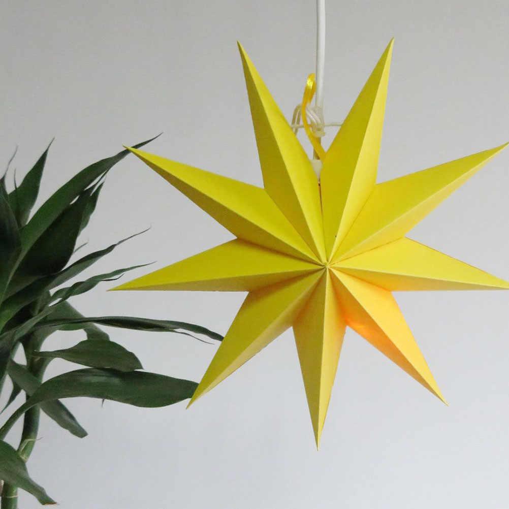 종이 램프 그늘 수제 스타 랜턴 환경 친화적 인 램프 액세서리 30 cm (노란색)