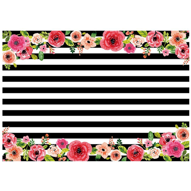 7x5ft Photography Backdrops Black And White Stripe
