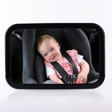 Adjustable Car Back Seat Mirror Baby Facing Rear Ward View Headrest Mount Mirror Square Safety Baby Kids Monitor colorful bag