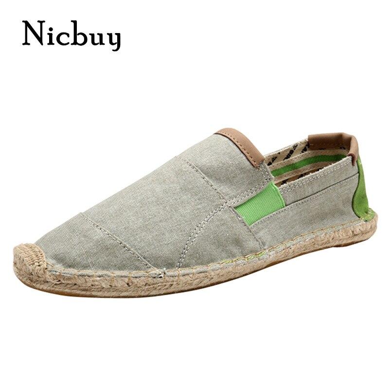 Nuevas Llegadas de Los Hombres de la Lona Alpargata Zapatos Planos Moda Size7,10.5 Verano