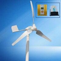 horizontal 600w 12v/24v/48v 50hz permanent magnet generator wind generator 3 blades with mppt hybrid controller New energy