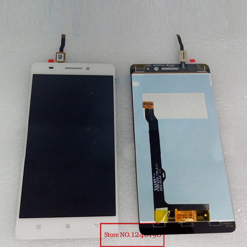 TOP Quality Black/White LCD Display Touch Screen Digitizer Assembly For Lenovo S8 A7600 A7600M A7600-M Phone Parts Free shipping