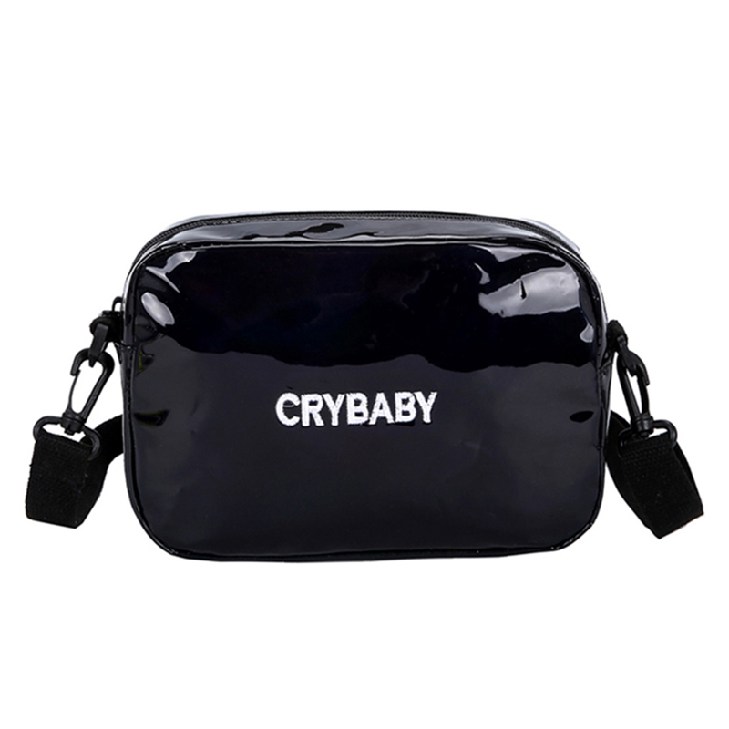 HTB1Kha7bv1G3KVjSZFkq6yK4XXa0 Yogodlns 2019 Holographic Laser Backpack Embroidered Crybaby Letter Hologram Backpack set School Bag +shoulder bag +penbag 3pcs