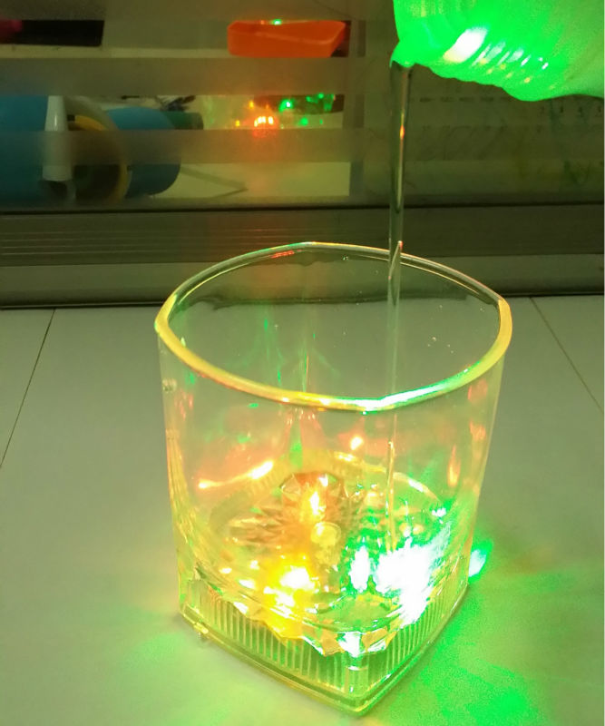 Free shipping 48pcs/lot 10OZ Inductive LED Wine Whisky Cup LED Light Flashing Beer Mug Drink Cup Glass For Bar Party Club Home