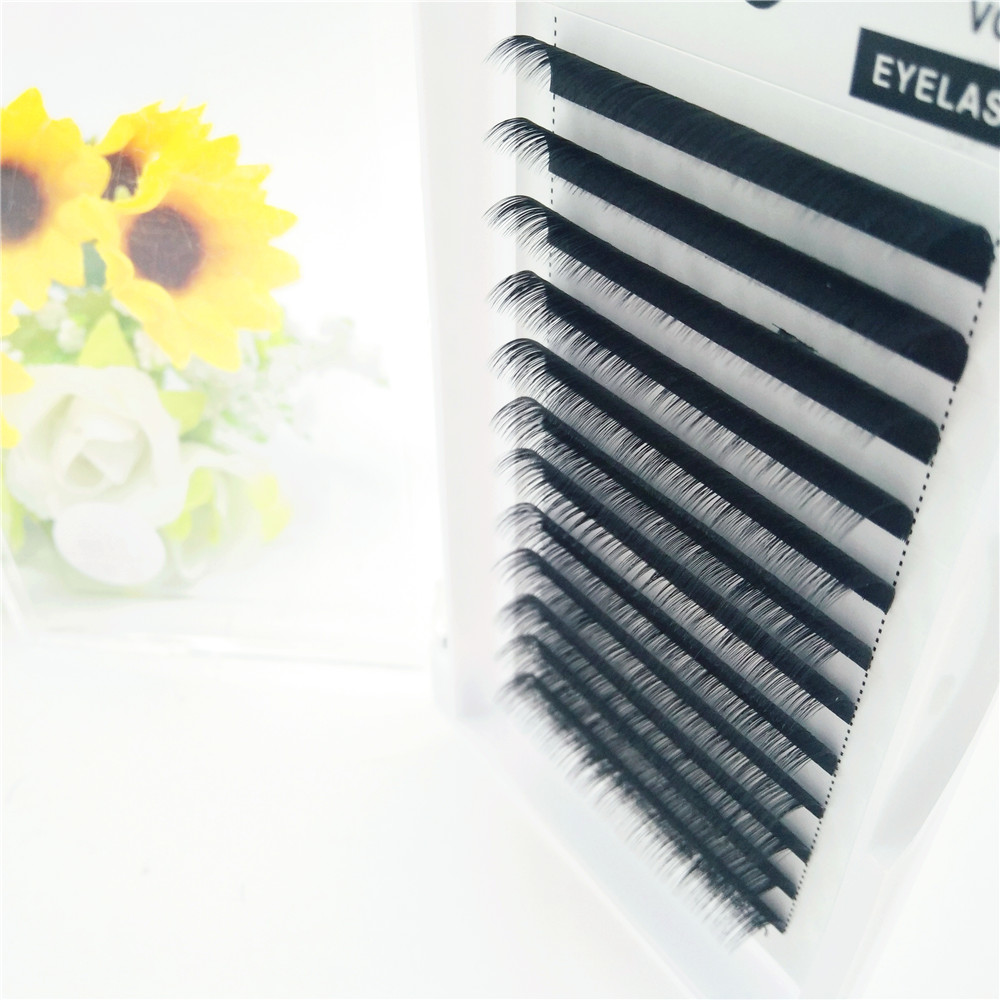False lash Individual Eyelash 12 lines 8-15mm J/B/C/D/L curl 0.03 series natural mink individual eyelash extension free shipping