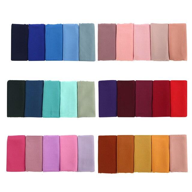 10pcs/lot Vintage women solid plain chiffon hijab   scarf     wraps   soft long islam foulard shawls muslim georgette   scarves   hijabs