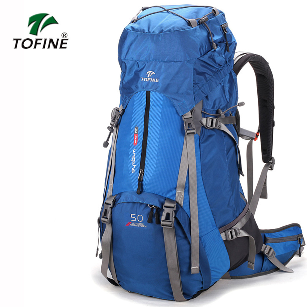 TOFINE Large Capacity Outdoor Backpack Unisex Travel Multi functional Climbing Backpack Hiking Camping Rucksacks 60L Camping