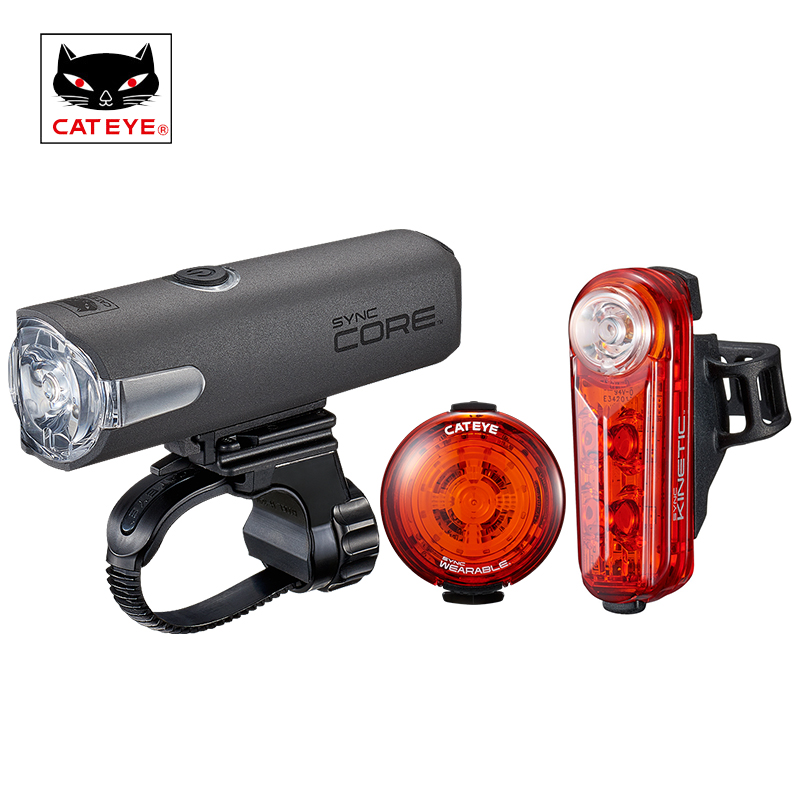 CATEYE Cycling Light SYNC CORE Bike Light USB Rechargeable Smartphone Synchronize Control Safety Light Bicycle Taillight