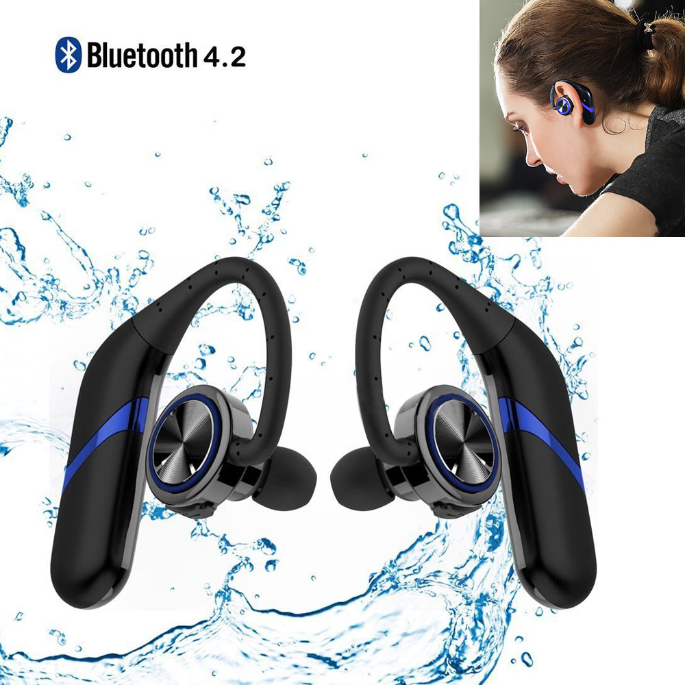 Bluetooth headphones Twins Waterproof Wireless Bluetooth 4 2 Stereo Earphone With Microphone Sports Earbuds For IOS
