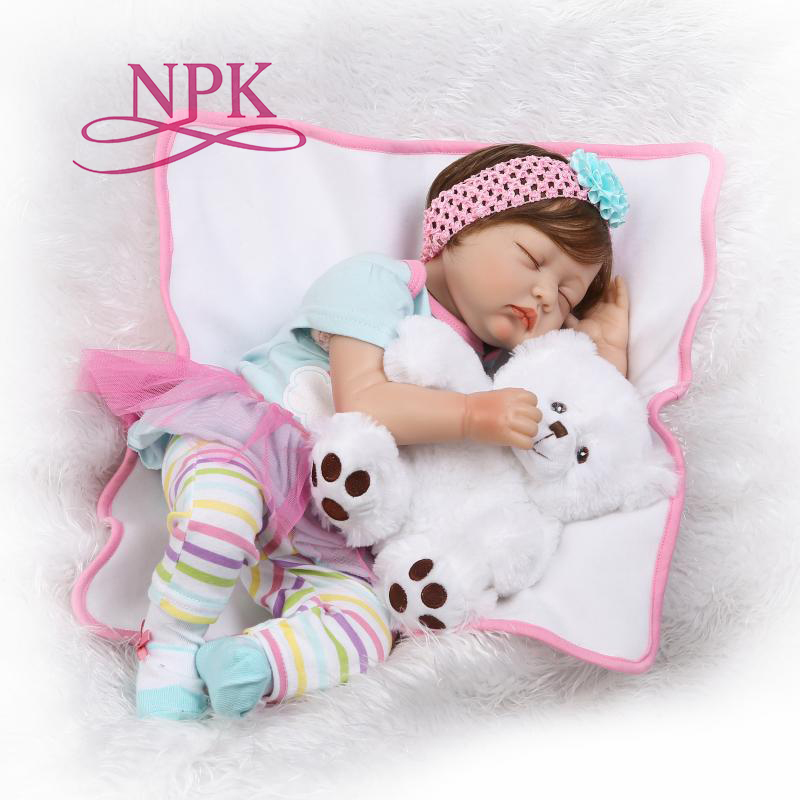 NPK Silicone Reborn Boneca Realista Baby Dolls Fashion Baby For Children Birthday Gift Bebes Reborn Dolls