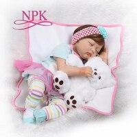 NPK Silicone Reborn Boneca Realista Baby Dolls Fashion Baby For Children Birthday Gift Bebes Reborn Dolls Kids Toys