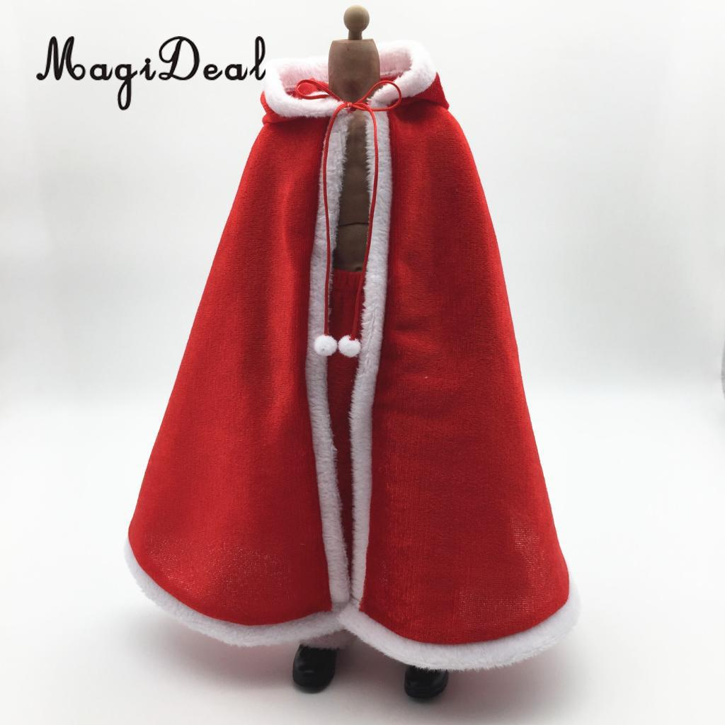 MagiDeal 1:6 Christmas Cloak Xmas Cape Clothes for 12inch Action Figure Body