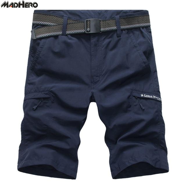 save off 0f602 390d8 MADHERO 100% Nylon Shorts Men Cargo Loose Shorts With Belt Men s Shorts  With Multi-