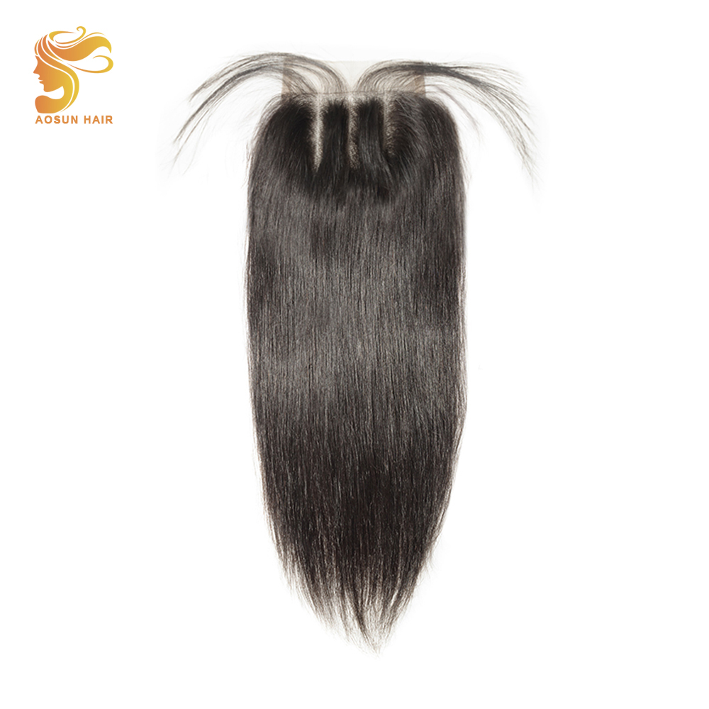 Brazilian Straight Hair Lace Closure Free/Middle/Three Part Remy Human Hair 4x4inch Swiss Lace Mix Top Closure Body Wave Closure