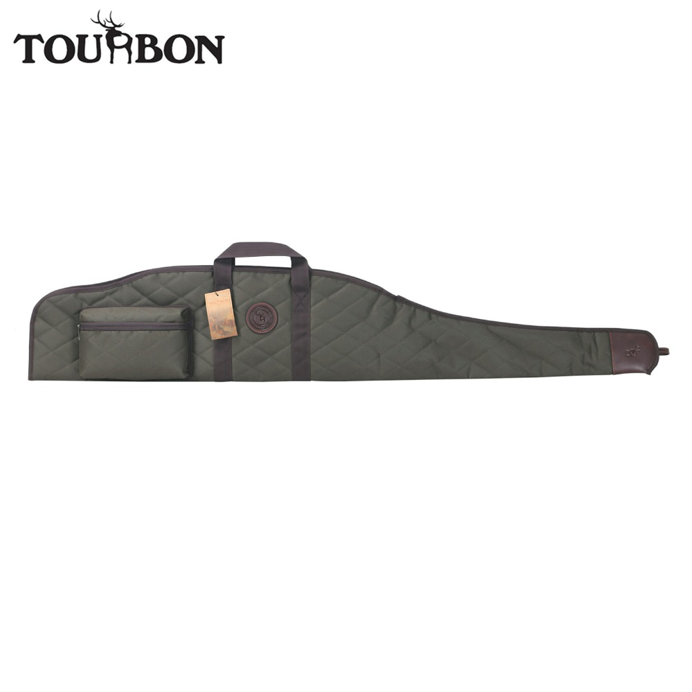 Tourbon Hunting Tactical Rifle Gun Case Scope Sight Cover Carrier Shooting Shotgun Slip Bag 132CM Gun Accessories tourbon tactical universal gun case hunting gun storage rifle shotgun carrier with lock gun accessories