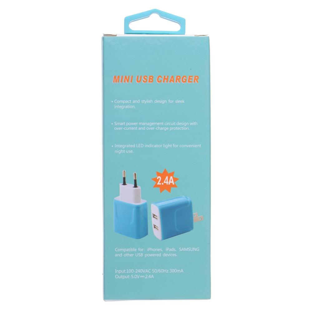 Oplader til telefonoplader 3.1A Dual USB-portvæg Hjemrejse - Mobiltelefon tilbehør og reparation dele - Foto 6