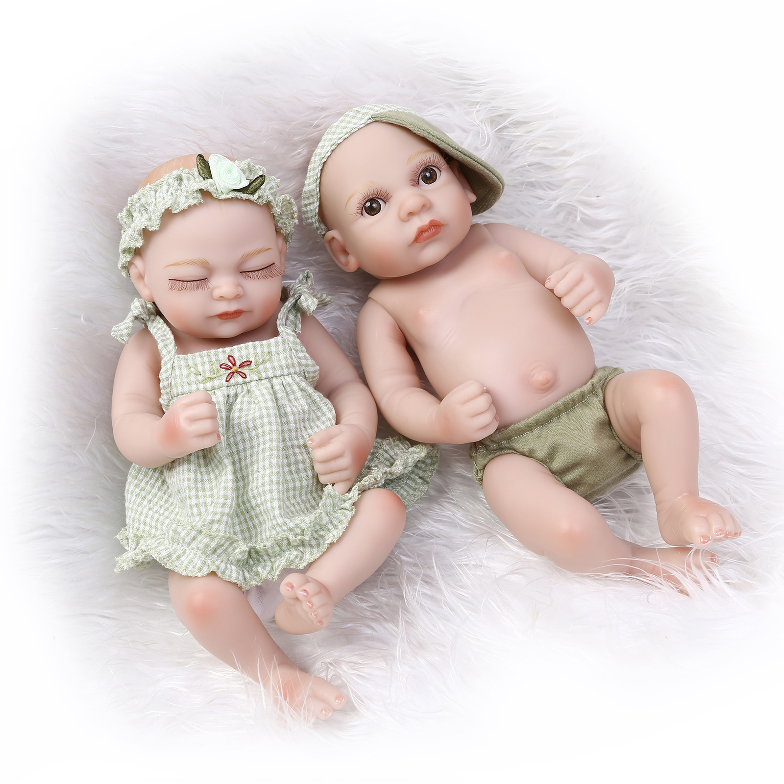 ФОТО Baby toys non-toxic silicone reborn doll Mini cute bath soft simulation doll house enlightenment toys