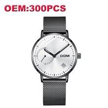 c62921d5be5 Dom marca de luxo personalizado seu próprio relógio da marca moda aço  causal quartzo homens relógios alta qualidade relógio à pr.