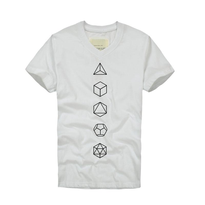 529c08d7f7 2018 nueva moda marca ropa algodón geometría imprimir manga corta de verano  hombres camiseta v-cuello camiseta Homme plus tamaño S-XXXL