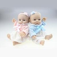 NPK COLLECTION 1 Piece 8 Sit Body Silicone Reborn Dolls Newborn Baby Doll Mini Handmade Realistic