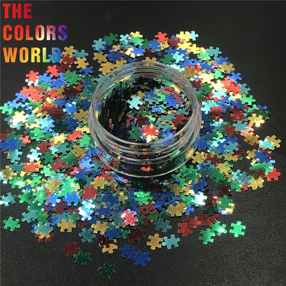 TCT-298 Puzzles Formas Unhas Glitter Nail Art Decoração DIY Gel Body Art Decorações Maquiagem Handwork Copos início DIY Decor