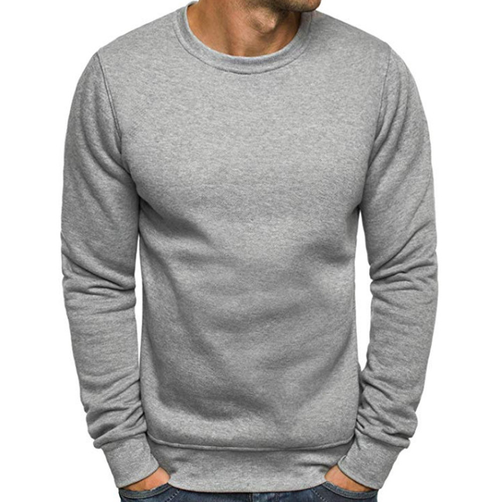 ZOGAA Hot Sale Men Long Sleeve HOODIE Casual Classic Cotton O Neck Tee Tops Brand Fitness Thermal SHIRT