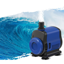 цена на Ultra-Quiet Submersible Water Fountain Pump Filter Fish Pond Aquarium Tank, adjustable Water Pump bottom filter sponges included