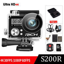 Ultra HD 4K wifi (OEM EKEN H9R) action camera 4k/30fps dual screen 2.0 LCD go waterproof pro sj Extreme mini Camcorder(China)
